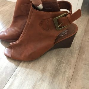 Jeffrey Campbell Leather Peep Toe Booties